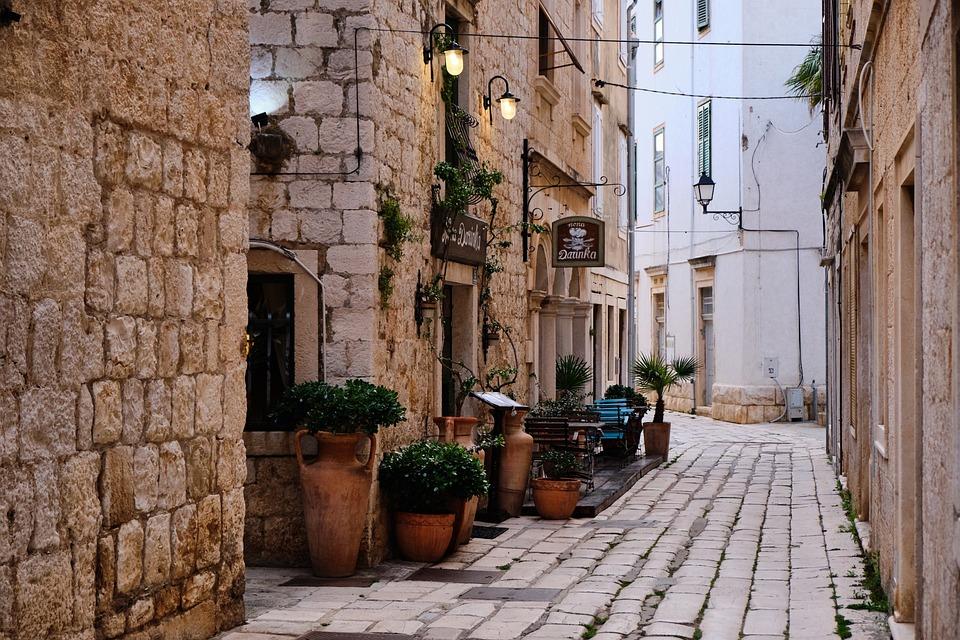 Street, Road, Croatia, Mediterranean, Architecture