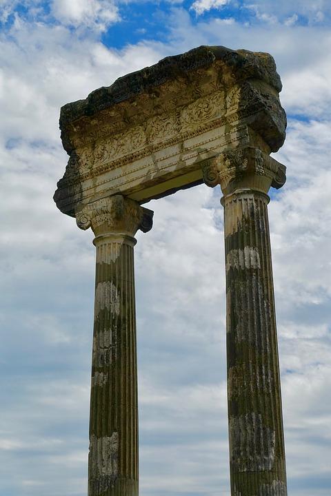 Columns, Roman, Architecture, Antique, Ancient, Pillar