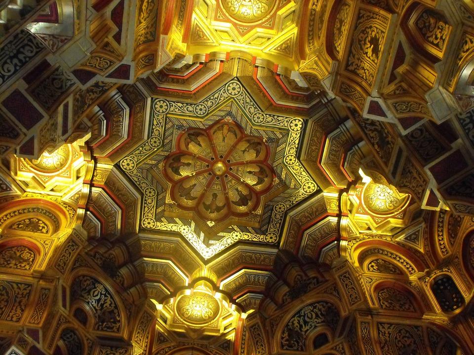 Ceiling, Ornate, Roof, Interior, Architecture, Design