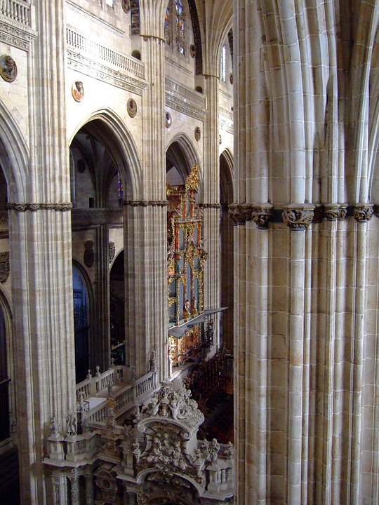 Salamanca, Spain, Cathedral, Inside, Architecture