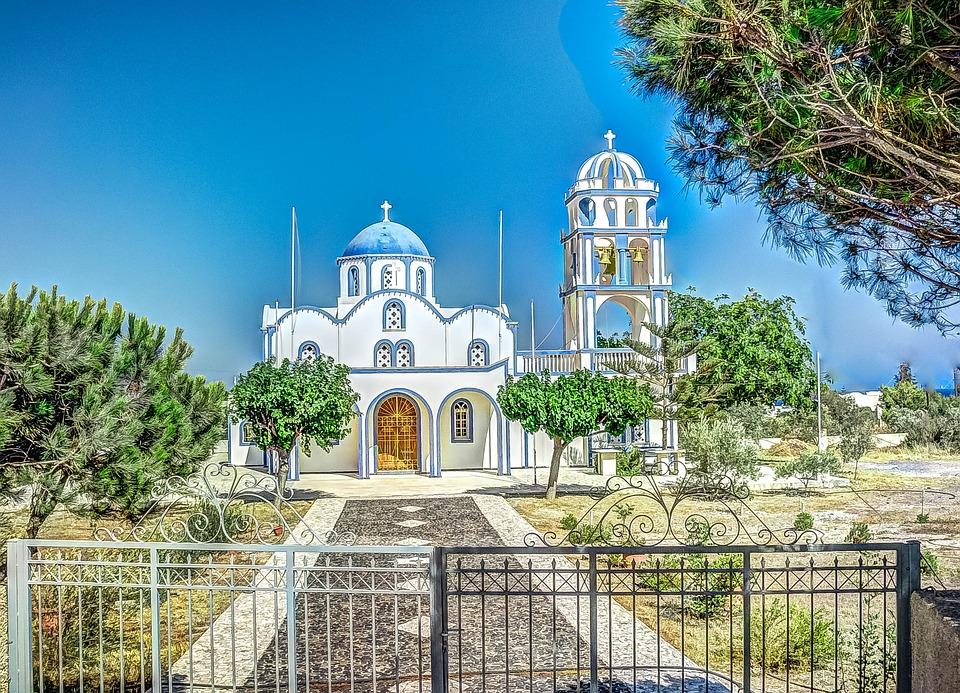 Church, Santorini, Greece, Greek, Island, Architecture