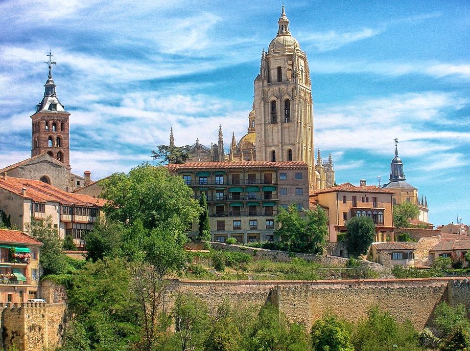 Segovia, Spain, Churches, Buildings, Architecture, Sky