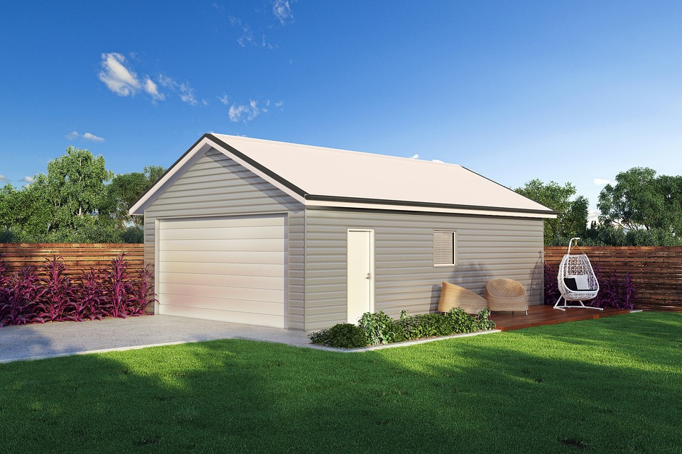 House, Lawn, Grass, Shed, Architecture, Residential