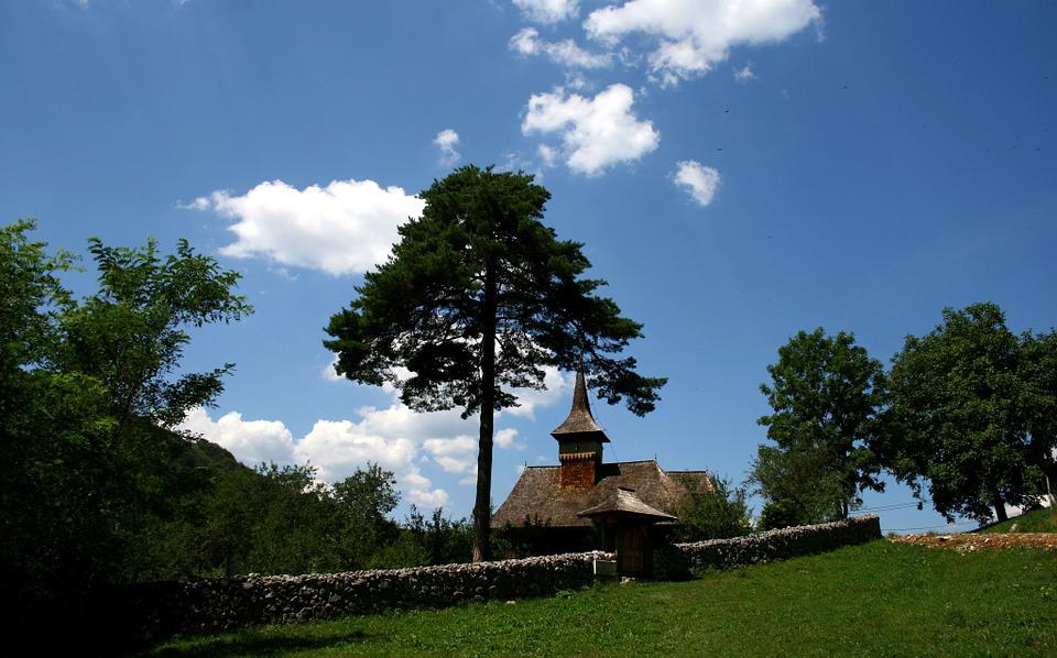 Church, Old, Tree, Rural, Religion, Architecture, Sky