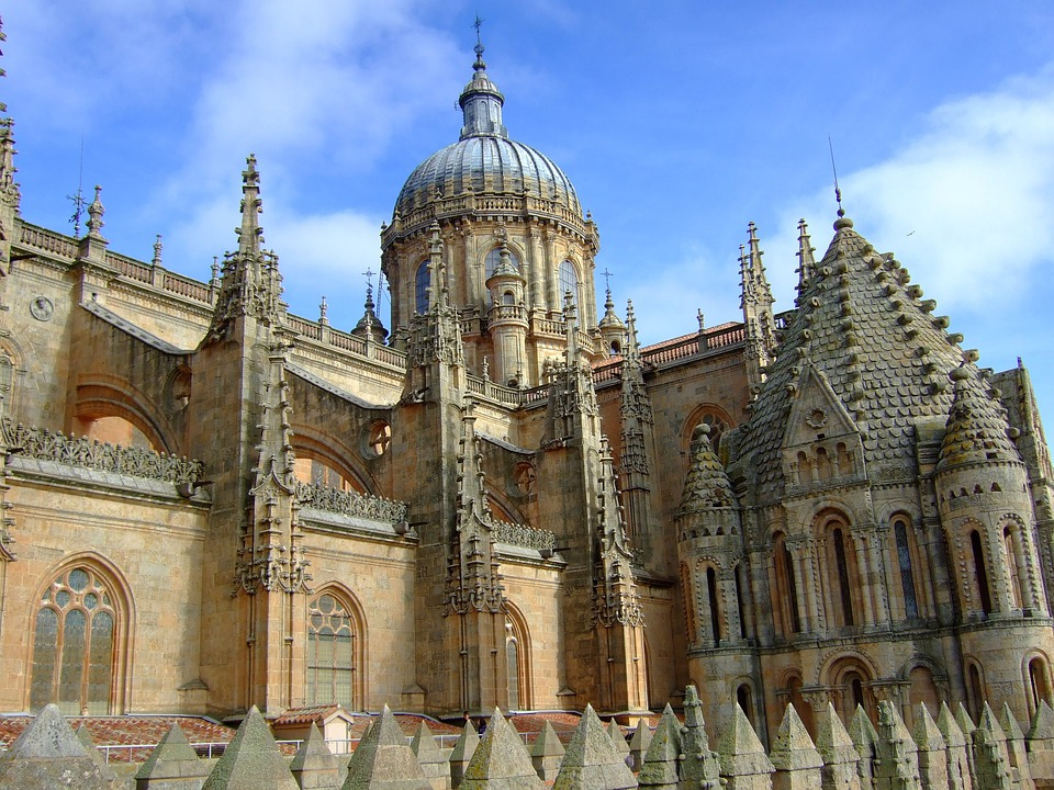 Salamanca, Spain, Cathedral, Architecture, Church