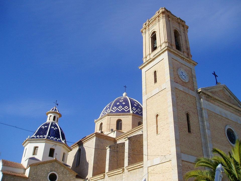 Altea Church, Spanish, Domes, Church, Architecture