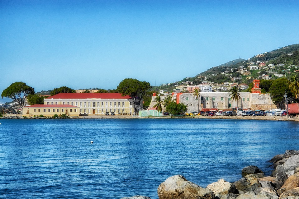 St Thomas, Virgin Islands, Buildings, Architecture, Bay