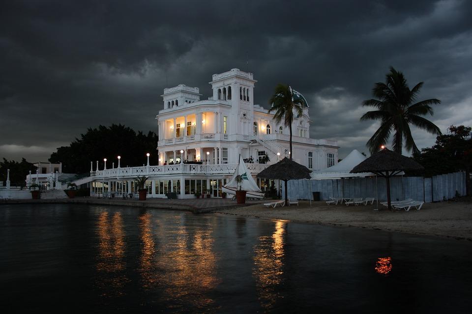 Cuba, Cienfuegos, Architecture, Marina, Storm, Clouds