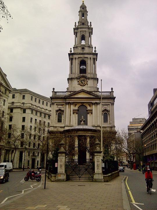 Strand, London, Church, Architecture, City, Travel
