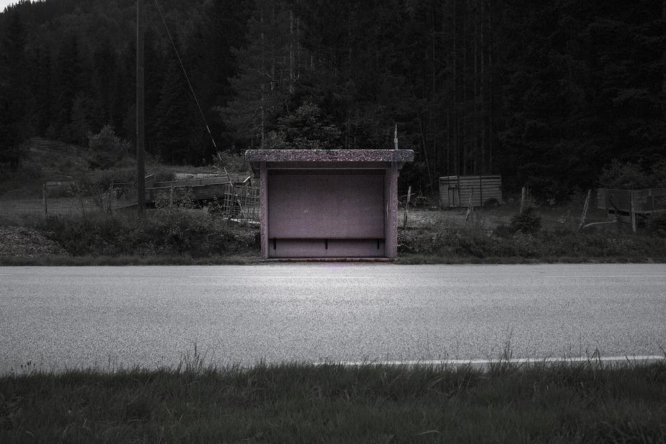 Bus, Structure, Dark, Public, Station, Architecture