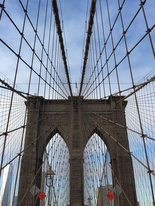 Brooklin, Architecture, Bridge, Sky, Suspension Bridge