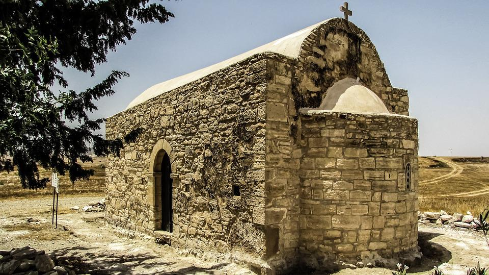 Cyprus, Tersefanou, Church, Stone Built, Architecture