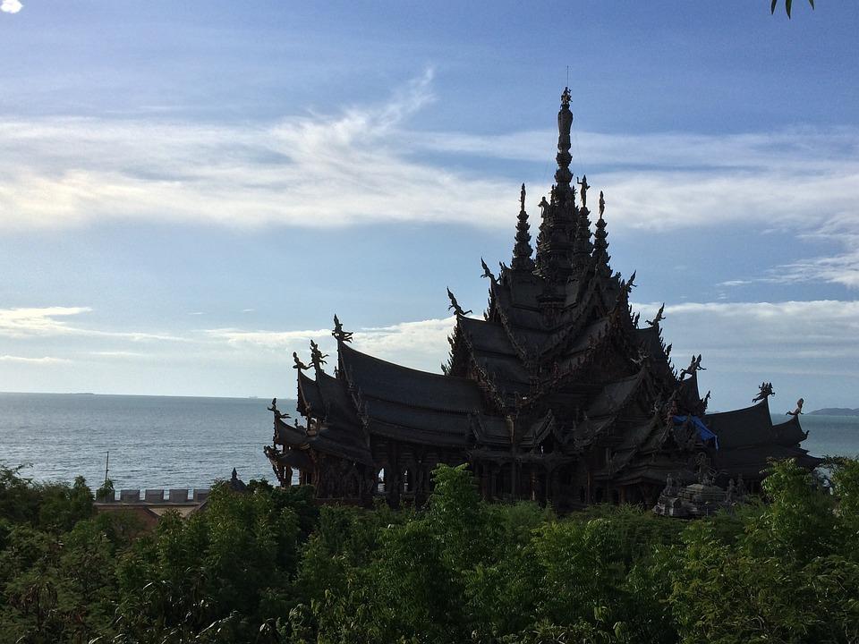 Building, Thailand, Architecture, Religion, Sky, Temple