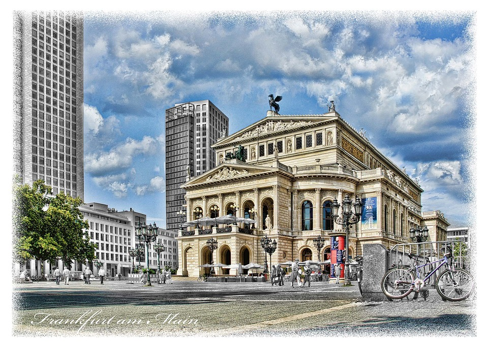 Theater, Building, Architecture, Frankfurt