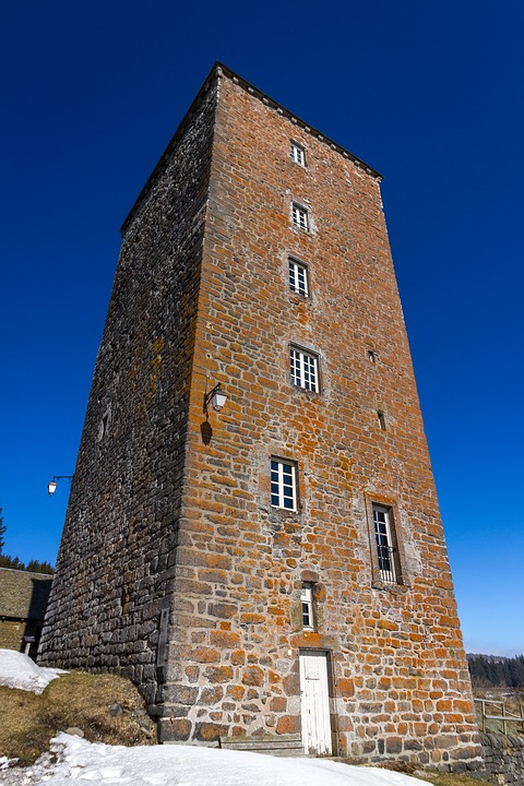 Architecture, At The Age Of, Tower, Sky, Travel, Aubrac