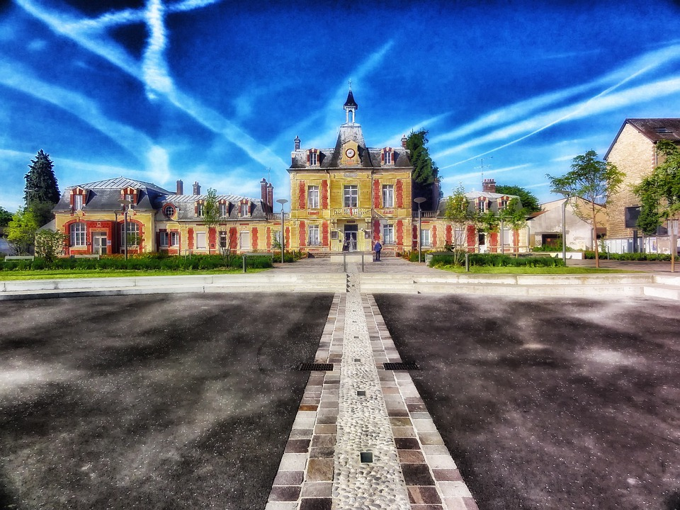 Persan, France, Town Hall, Building, Architecture