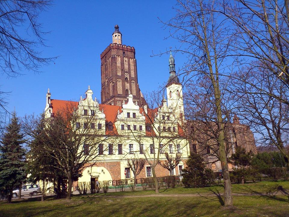 Town Hall, Gubin, Architecture, Monument, Gubin Poland