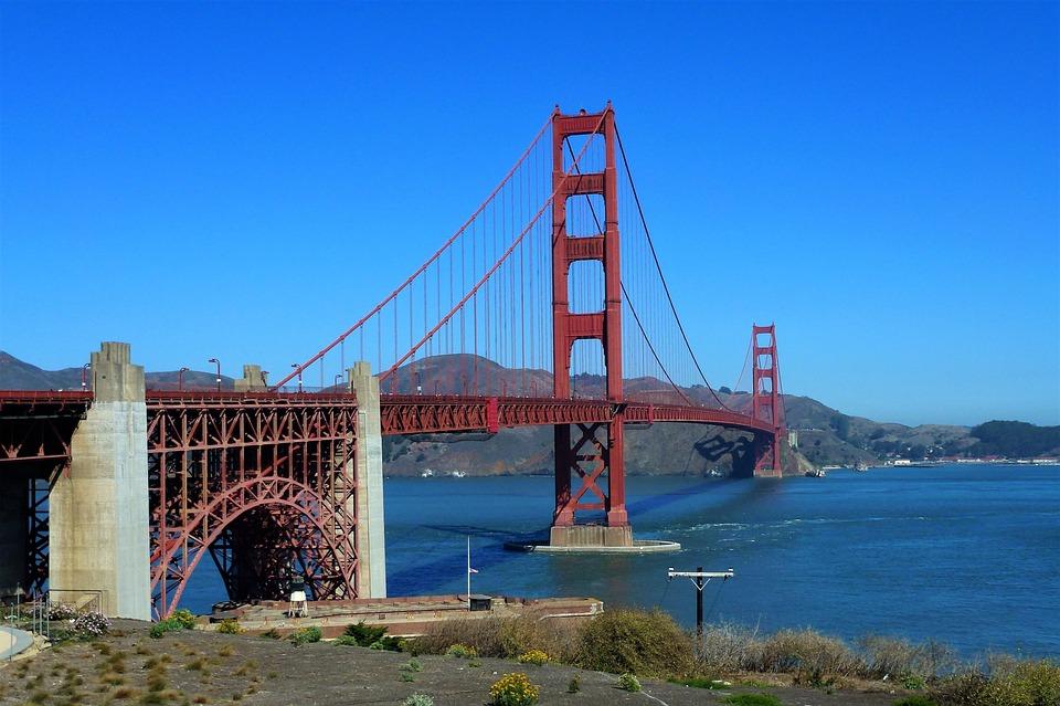 Architecture, Usa, Bridge, Body Of Water, Travel, Sky