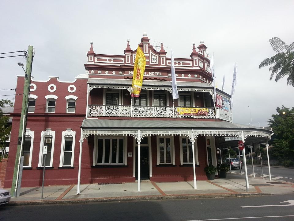Hotel, Building, Facade, Architecture, Brisbane, Travel