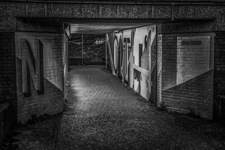 Underpass, Urban, Architecture, Graffiti, Tunnel