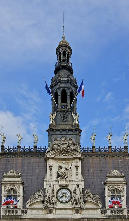 Turret, City Hall, Paris, Tower, Architecture, Monument