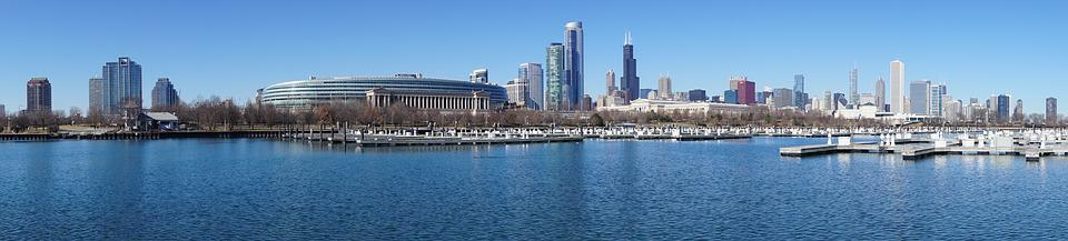 Chicago, Skyline, Architecture, Illinois, Urban