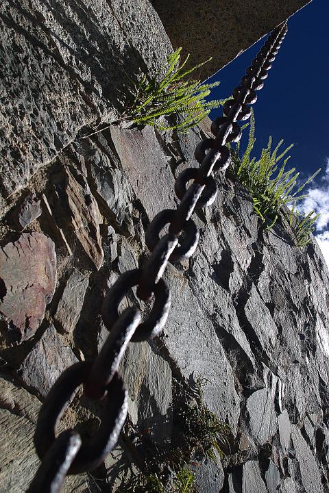 Chains, Cologne, Uruguay, Stone, Old, Architecture