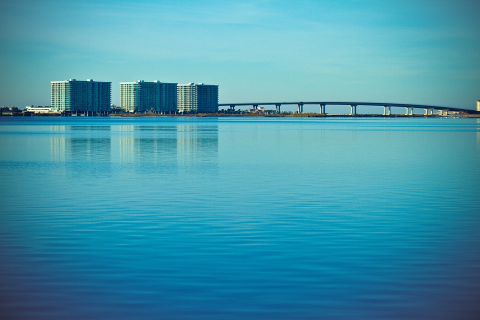 Bridge, Alabama, Architecture, Usa, America, Calm
