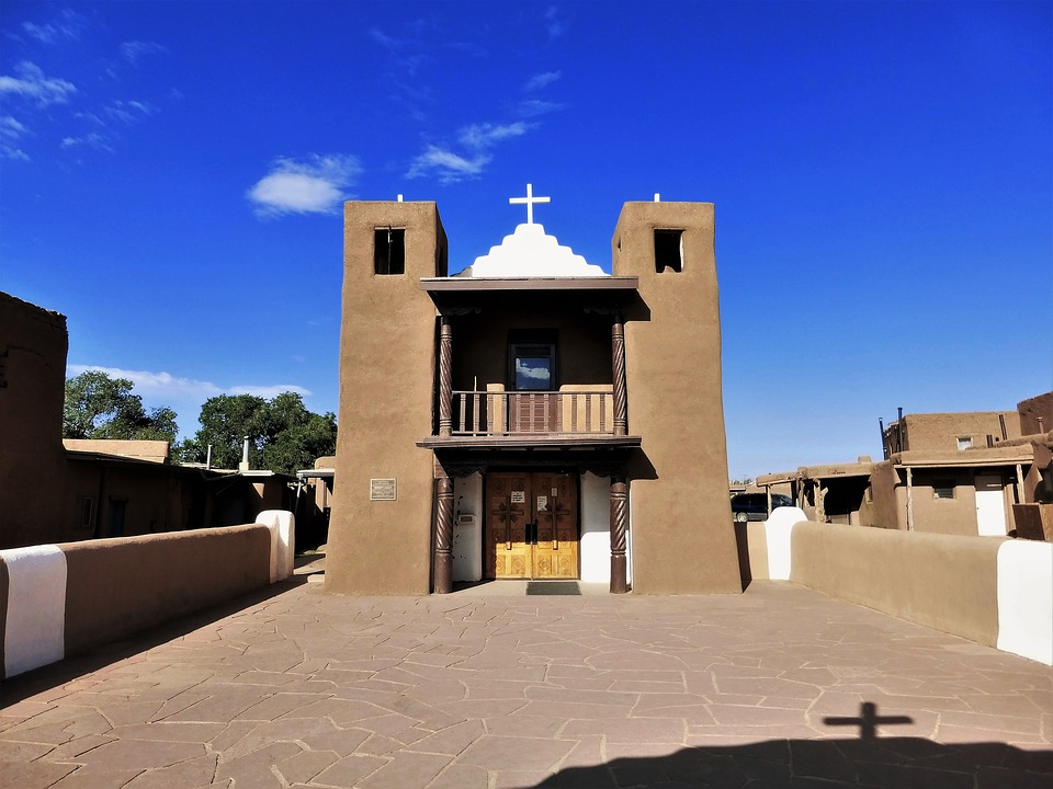 Architecture Usa, New Mexico, Church, Indian