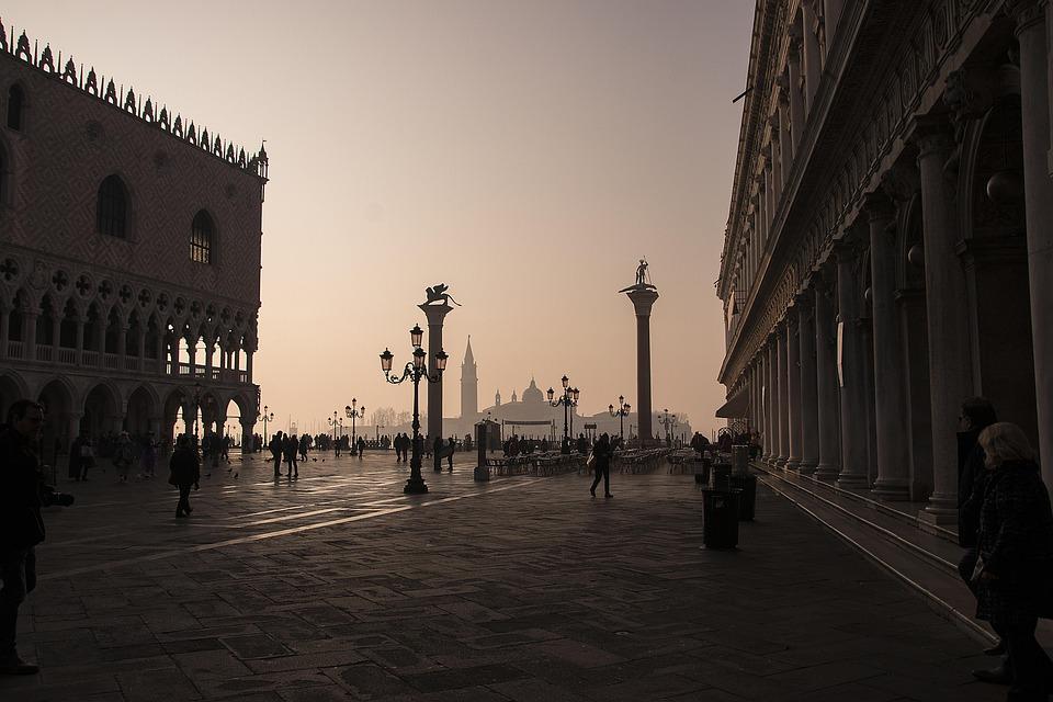 Venice, Sunrise, Italy, Architecture, Travel, Europe