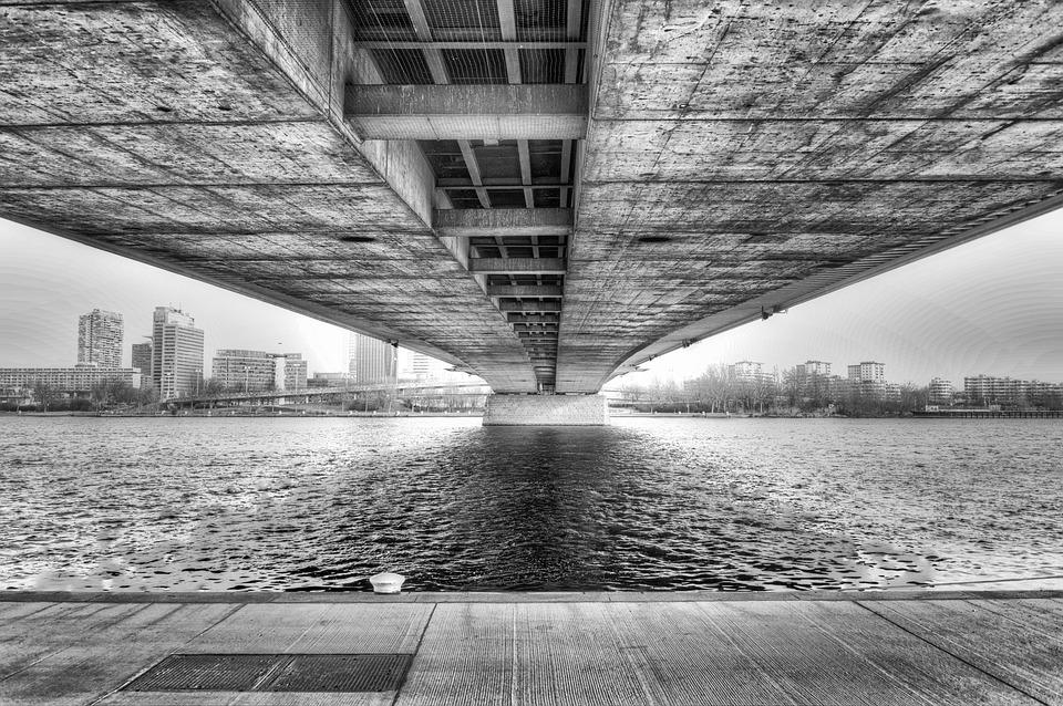 Bridge, Vienna, Architecture, Danube, Perspective