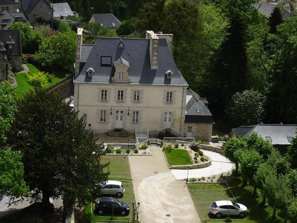 House, Architecture, View, From, Castle, Dinan