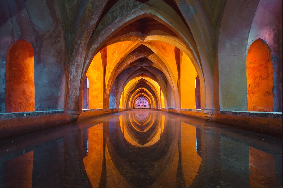 Water, Architecture, Colourful, Reflection, Church