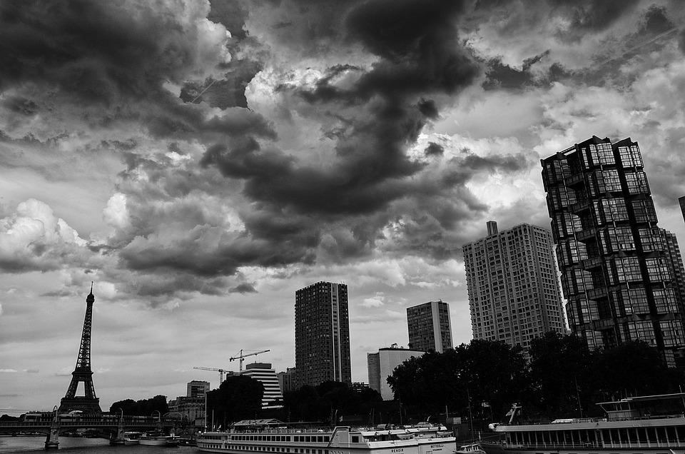 Paris, Bw, France, Black, White, Architecture, City