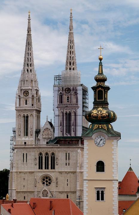 Zagreb, Cathedral, Europe, Croatia, Architecture