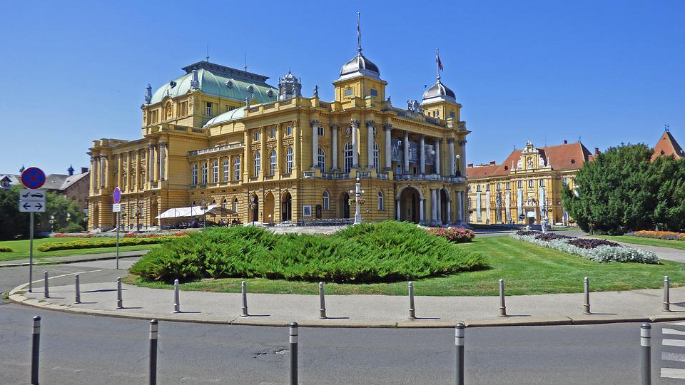Zagreb, Croatia, National, Theater, Architecture