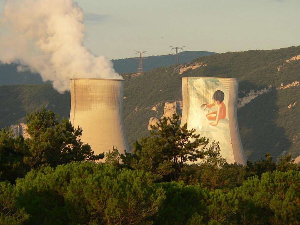 Nuclear Plant, Cruas, Ardèche, France, Nuclear Power