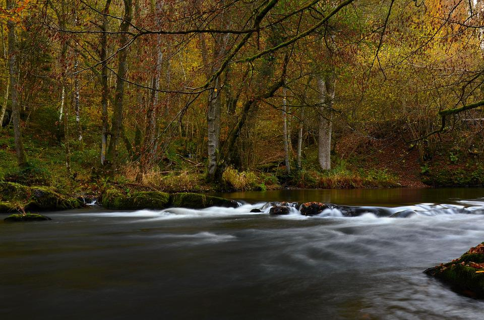 River, Ardennes, Long Exposure, Water Courses, Nature