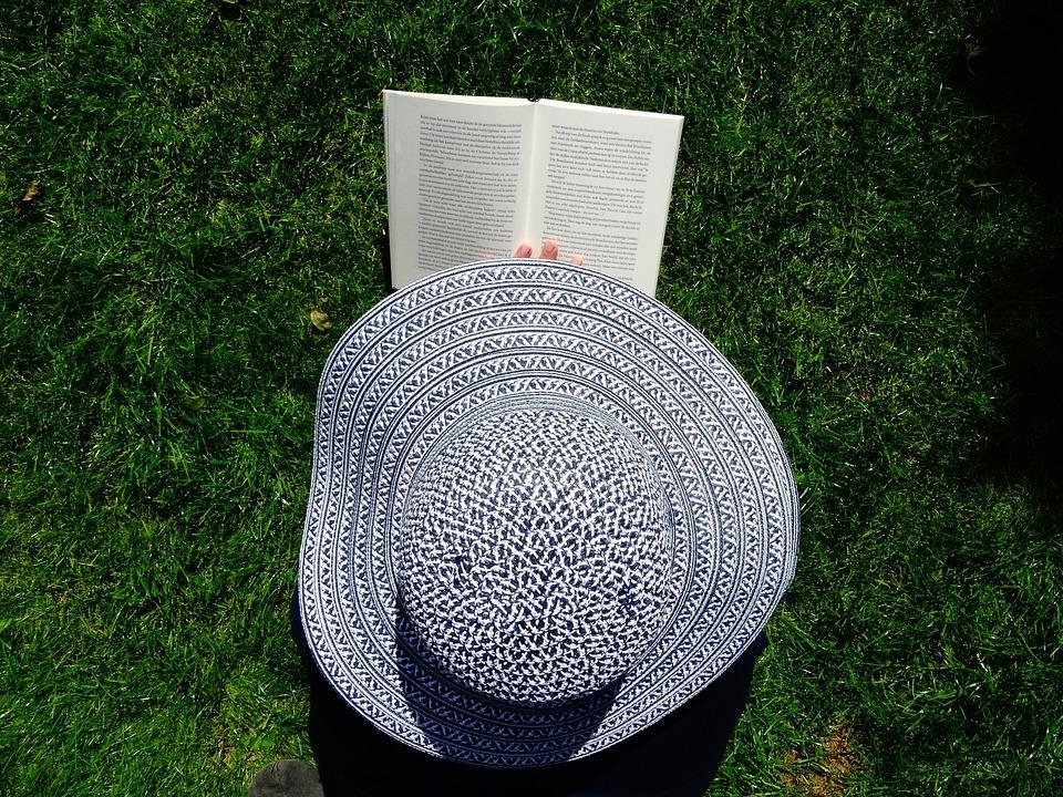 Hat, Book, Read, Relax, Grass, Books, Garden, Are