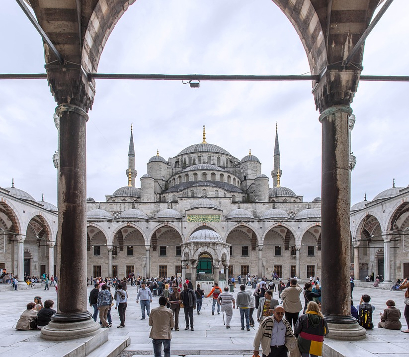 Blue Mosque, Istanbul, People, Area, Temple, Panorama