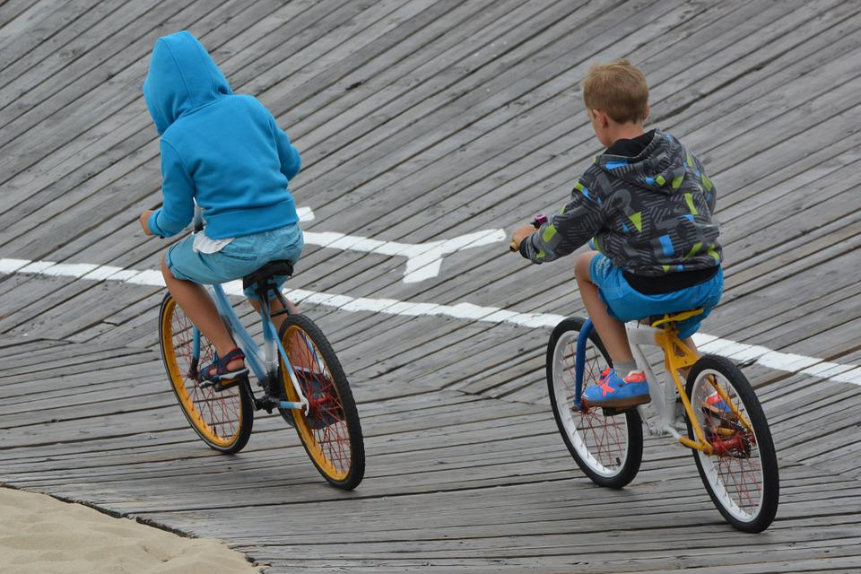 Bicycle, Arena, Blankenberge, People, Children, Contest