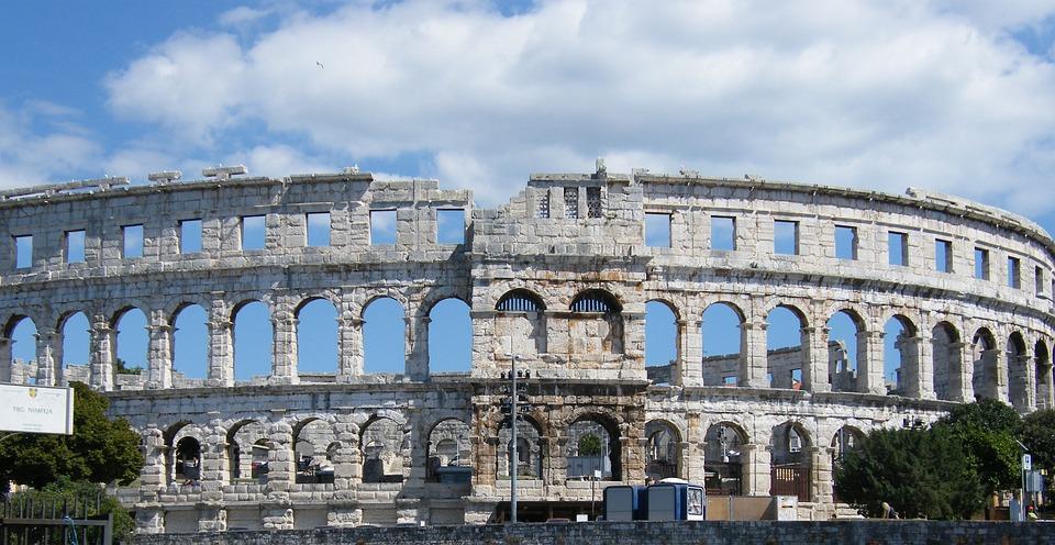 Amphitheater, Pula, Arena, Roman, Croatia