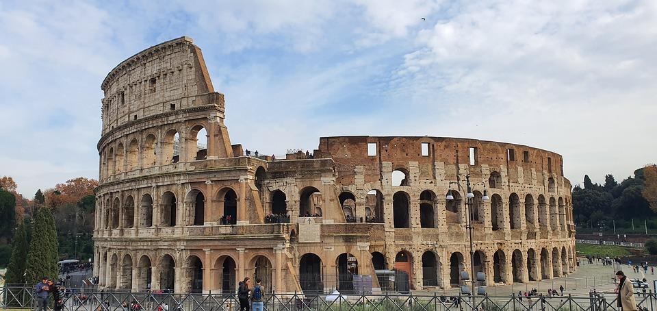 Colosseum, Rome, Arena, Italy, Europe, Ruins