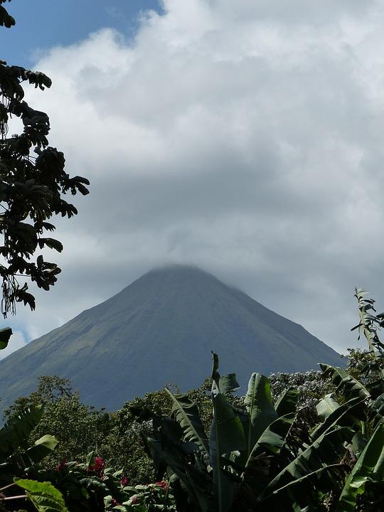 Volcano, Arenal, Mountain, Costa Rica, Central America