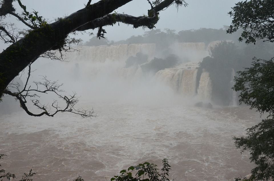 Iguazu, Waterfall, Argentina, Falls, Flow, Landscape