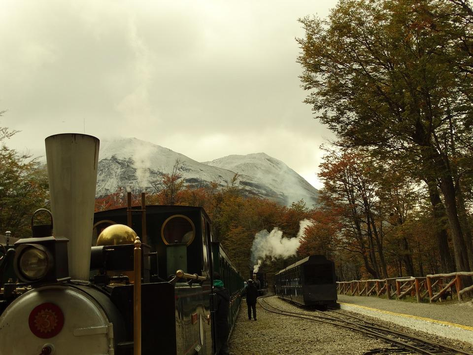 Train, Driver, Wagons, Argentina, Ushuaia, Cotton Gin