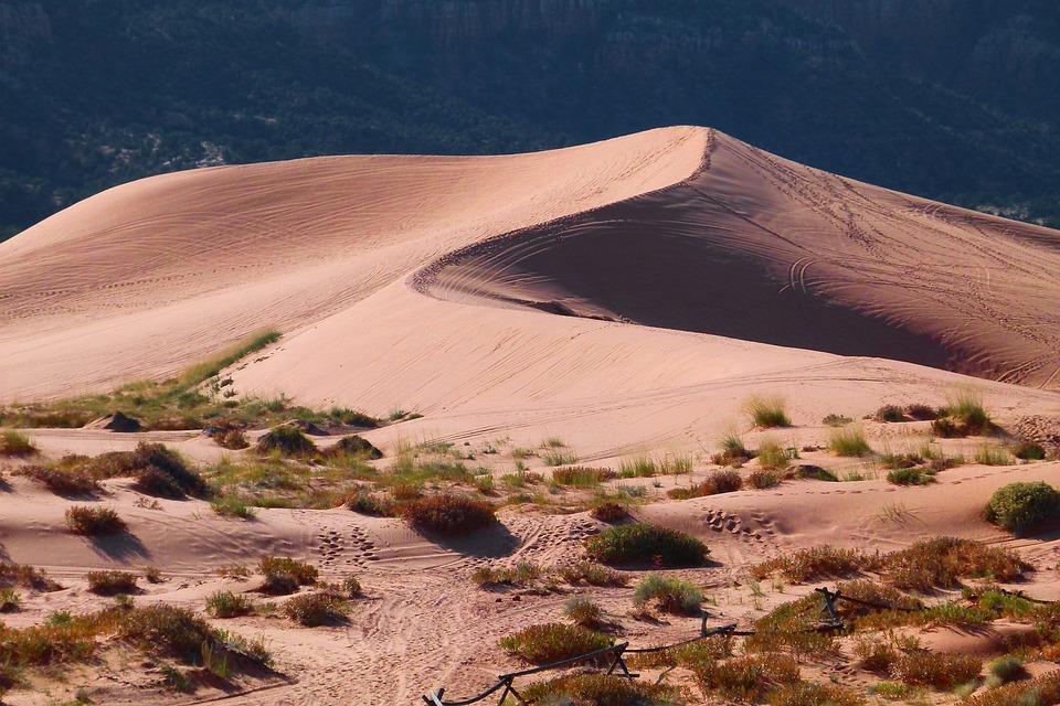 Desert, Sand, Dunes, Landscape, Dune Ridge, Arid