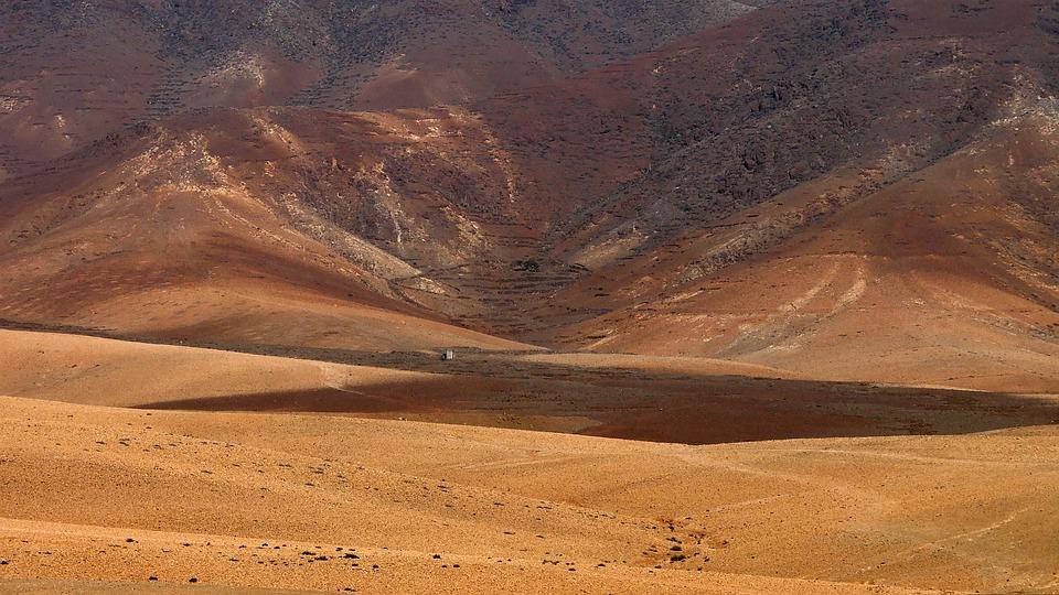 Desert, Landscape, Orange, Nature, Expand, Arid