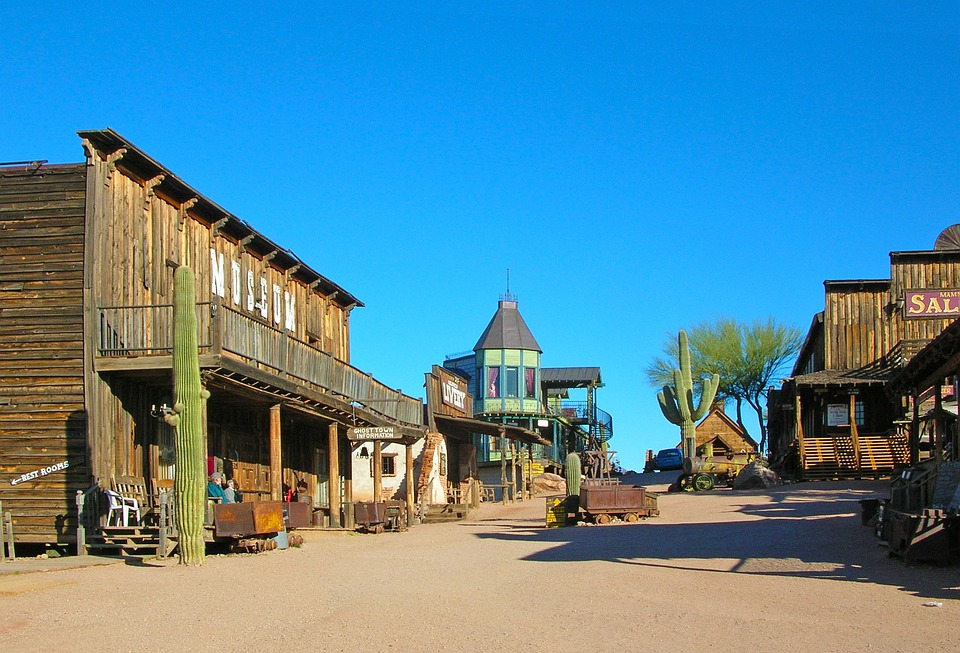 Ghost Town, Goldfield, Arizona, Usa, Heritage