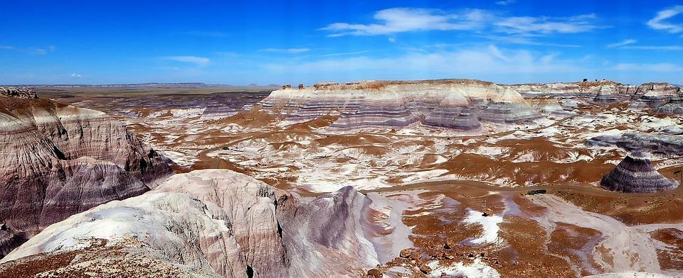 Usa, Arizona, Painted Desert, Panoramic, Landscape